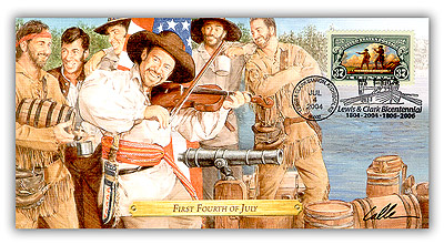 2004 Lewis & Clark 'First 4th of July' Commemorative Cover