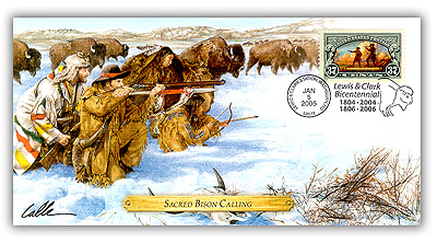 2004 Lewis & Clark 'Sacred Bison Calling Ceremony' Commemorative Cover