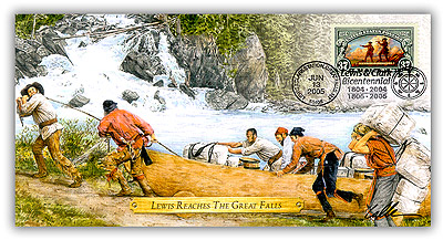 2005 Lewis & Clark 'Lewis Reaches The Great Falls' Commemorative Cover
