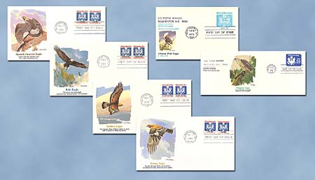 Official Mail Stamps 1985 Set of 6 FDCs