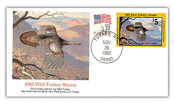 1985 Wild Turkey Commemorative Cover