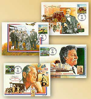 1989 25c Classic Mail Maxicard Set