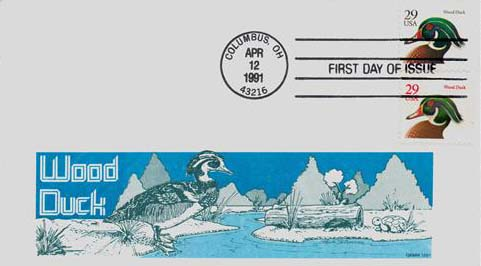 1991 29c Wood Duck First Day Cover