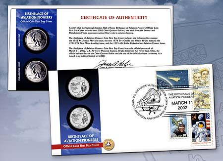 2002 Aviation Pioneers Coin Cover
