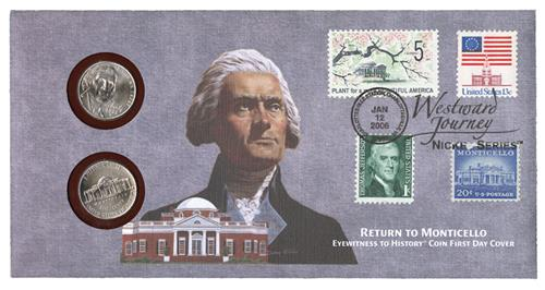 2006 Return To Monticello Nickel Coin Cvr