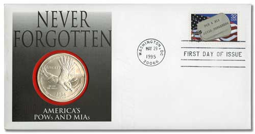 1995 POW/MIA Coin First Day Cover