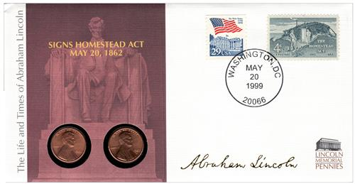 1998 Signs the Homestead Act Coin Cover