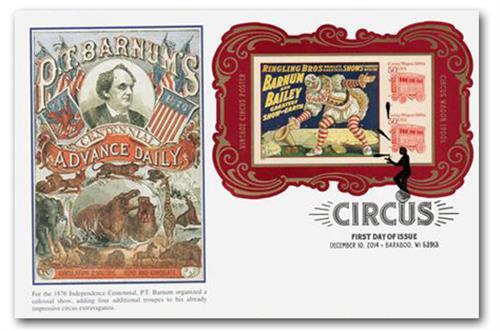 2014 $2.00 Circus Souvenir Sheet