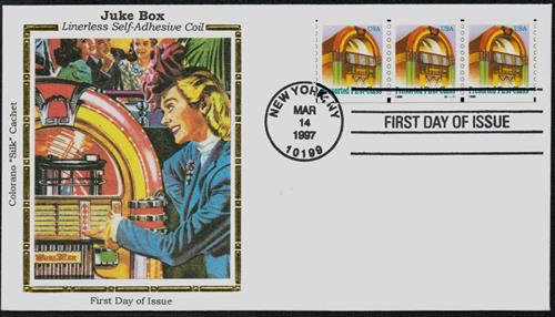 U.S. #3132 FDC – 1997 Jukebox Silk Cachet First Day Cover.