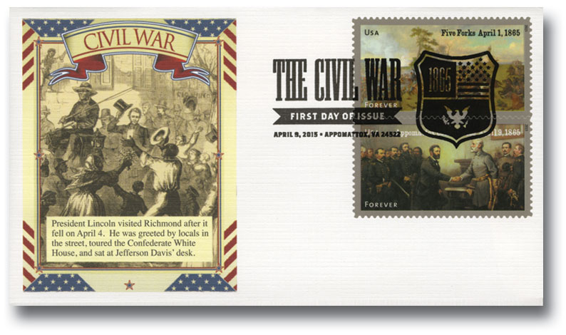 2015 First-Class Forever Stamp - The Civil War Sesquicentennial, 1865