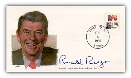1985 President Ronald Reagan Commemorative Cover