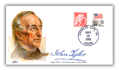 1985 PRS John Tyler Commemorative Cover