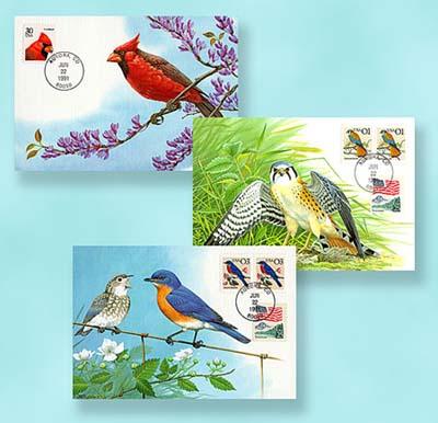 2002 1991 Birds Maximum Card Set of 3