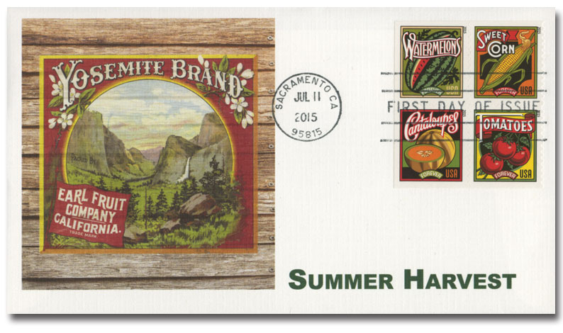 2015 First-Class Forever Stamp - Imperforate Summer Harvest