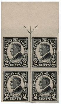 1923 2c Harding Black Imperforate For Sale At Mystic Stamp Company