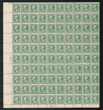 1918 1c Washington, gray green, offset printing