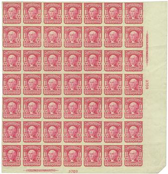 1906 2c Washington, carmine, imperforate
