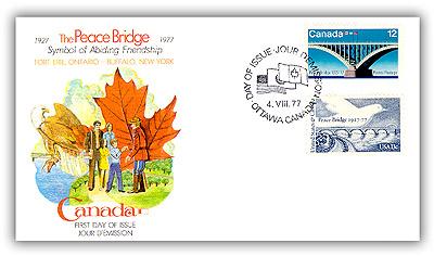 1977 Peace Bridge, Canada/US Combo Cover
