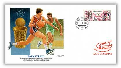 1988 Czechoslovakia Olympics 'Basketball'