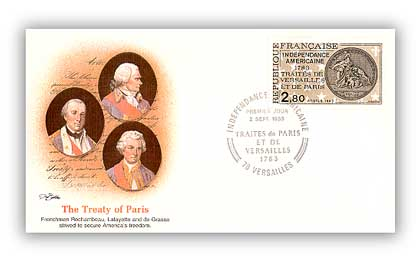 1983 Treaty of Paris - France First Day Cover