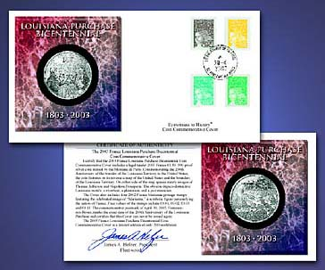2003 Bicentennial LA Purchase France Cn Cover