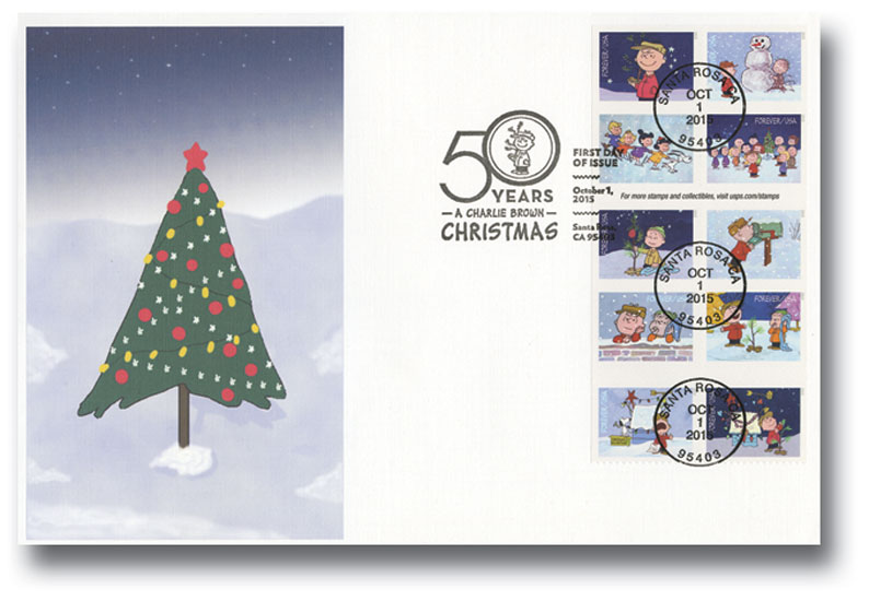2015 First-Class Forever Stamp - Contemporary Christmas: A Charlie Brown Christmas