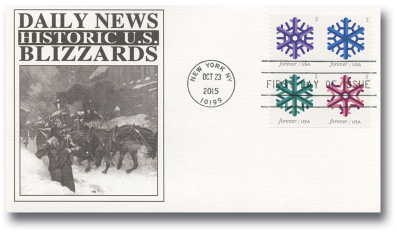 2015 First-Class Forever Stamp - Geometric Snowflakes