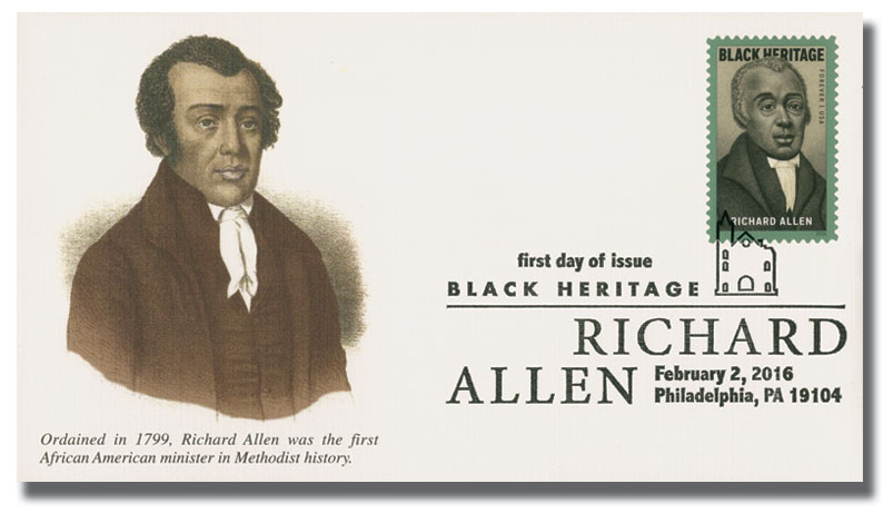2016 First-Class Forever Stamp - Black Heritage: Richard Allen