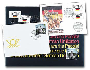 1990 German Reunification Stamps & Covers with Presentation Folder