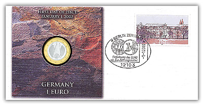 2002 Germany 1-euro Coin Cover