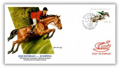 1988 Ireland Olympics 'Equestrian Jumping'