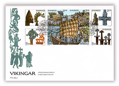 1990 Sweden Vikingar First Day Cover