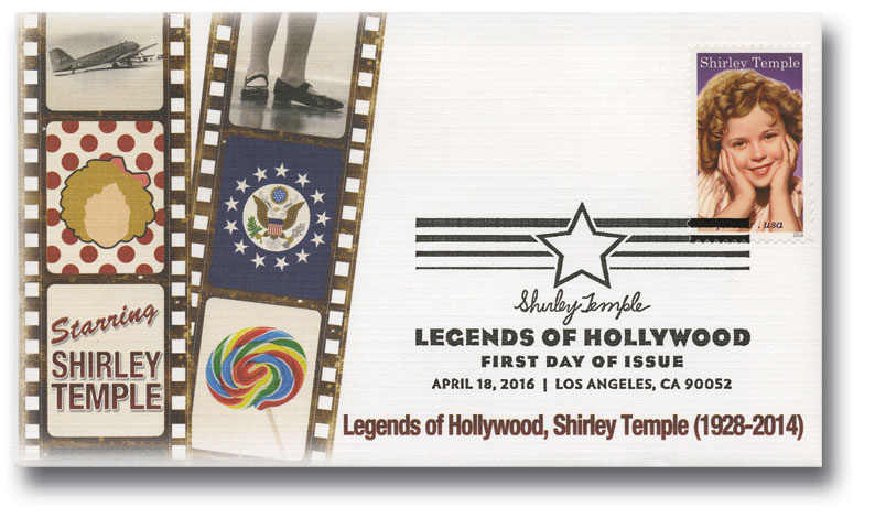 2016 First-Class Forever Stamp - Legends of Hollywood: Shirley Temple