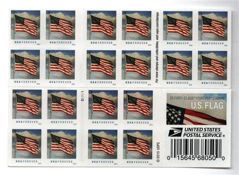 2016 First Class Forever Stamp Us Flag Sennett Security - United-states-forever-stamps