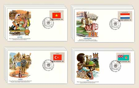 1980 Flags of the United Nations,16 FDCs