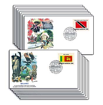 1981 Flags of the United Nations,16 FDCs