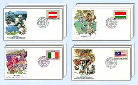 1982 Flags of the United Nations,16 FDCs