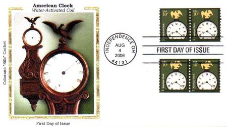 U.S. #3762 – American Clock Silk First Day Cover.