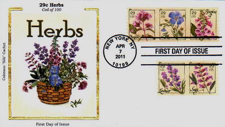2011 29c Herbs, coil