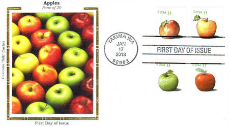 U.S. #4727-30 – 2013 Apples Silk First Day Cover.