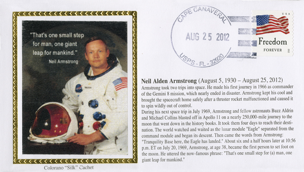 Neil Armstrong Memorial Cover 8/25/2012