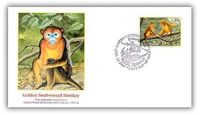 2004 37c NY Golden Snub-nosed Monkey FDC for sale at Mystic