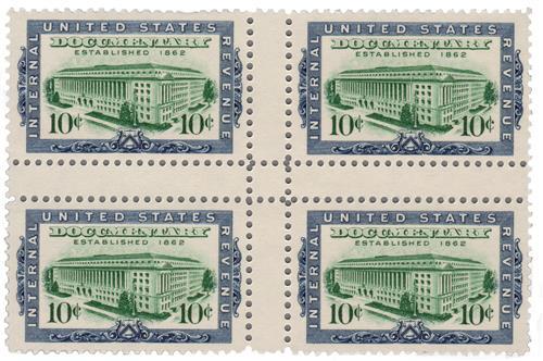 1962 10c vio bl,bt grn, Int Rev Bldg.