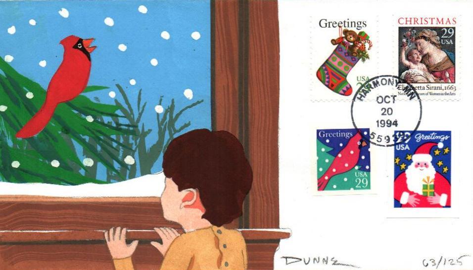 Christmas 1994 Set 6 FDC's