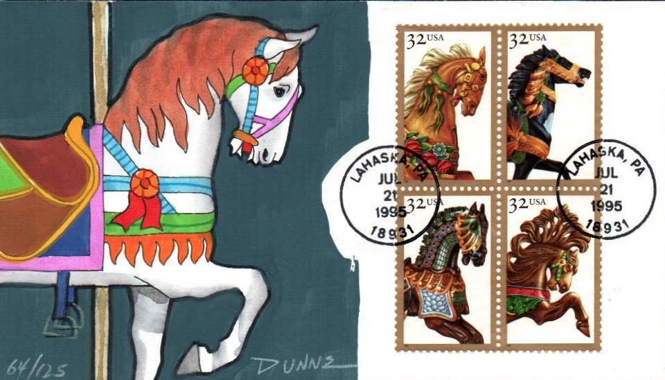 1995 32c Carousel Horses
