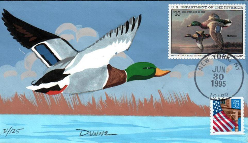 1995 $15.00 Mallards in Flight