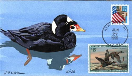 1996 $15.00 Surf Scoters