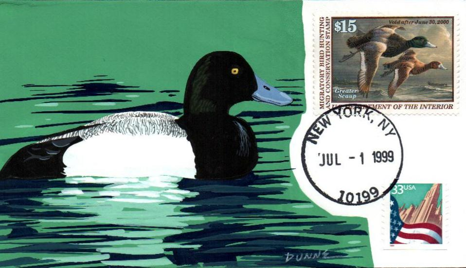 1999 $15 Greater Scaup