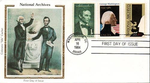 1984 National Archives Silk Cachet First Day Cover