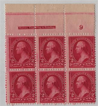 1894 2c Washington, carmine lake, type I